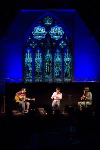 Ross Ainslie, Jarlath Henderson and Ali Hutton at Duncairn Arts and Cultural Centre