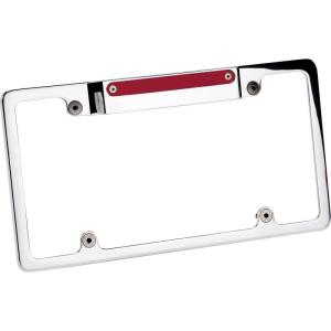 Billet Specialties Recessed Lighted License Plate Frame w/ 3rd Brake Light