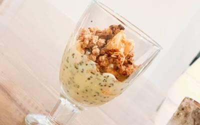 Terveellinen kauraomenapaistos & vaniljapudding