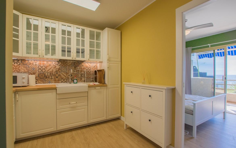 For Holiday Rent Two Bedroom Apartment in Puerto de Santiago Kitchen Estate Dream Homes Tenerife
