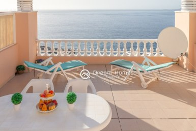 Fantastic Ocean View Property in Los Gigantes for Holiday Rent Terrace Real Estate Dream Homes Tenerife