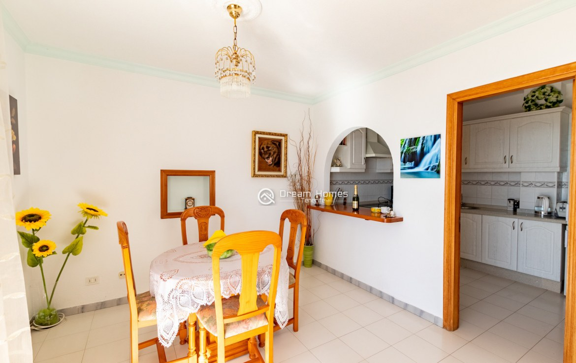 Fantastic View Apartment in Los Gigantes. No Community Fee Dining Area Real Estate Dream Homes Tenerife