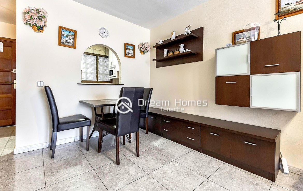 Great Two Bedroom Apartment for sale in Los Cristianos Dining Area Real Estate Dream Homes Tenerife