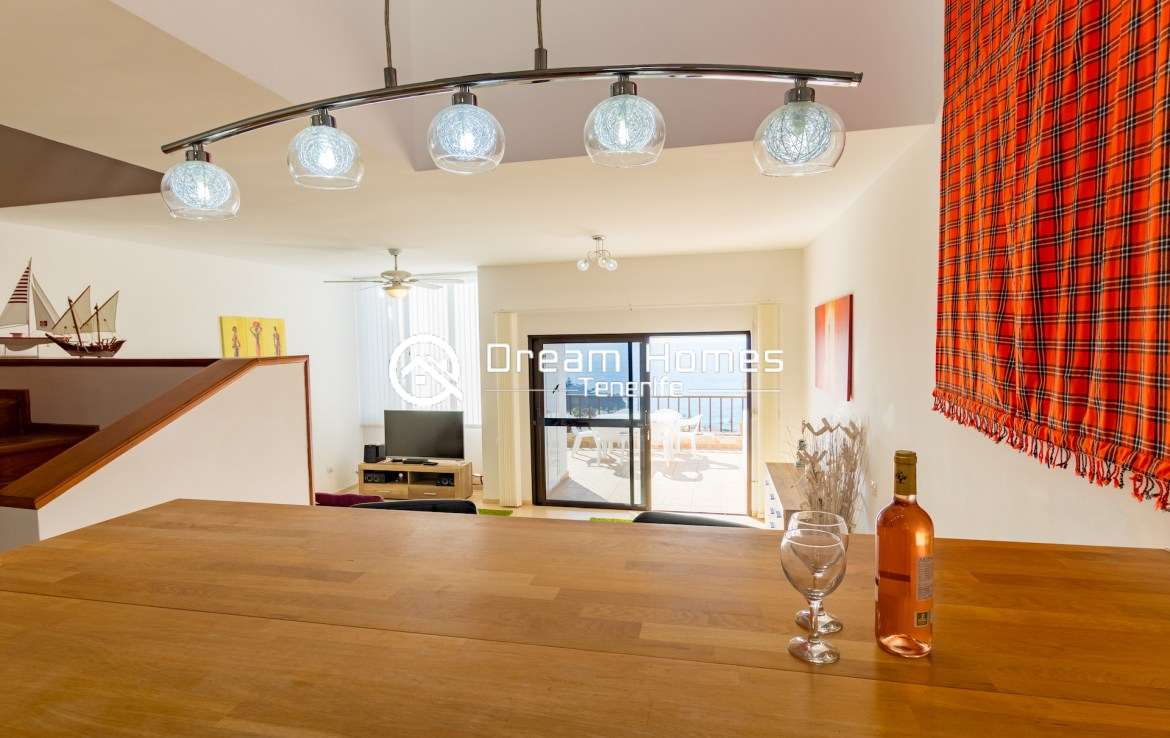 Fantastic Oceanview Penthouse For Rent in Los Gigantes Dining Area Real Estate Dream Homes Tenerife