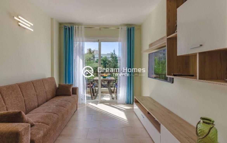 Fully Furnished Apartment in El Dorado, Playa las Americas Living Room Real Estate Dream Homes Tenerife