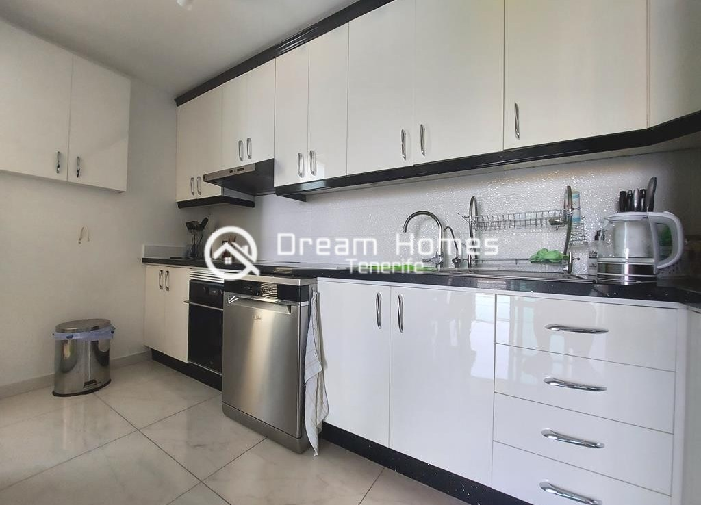 Fully Furnished Two Bedroom Apartment in Golf del Sur Kitchen Real Estate Dream Homes Tenerife