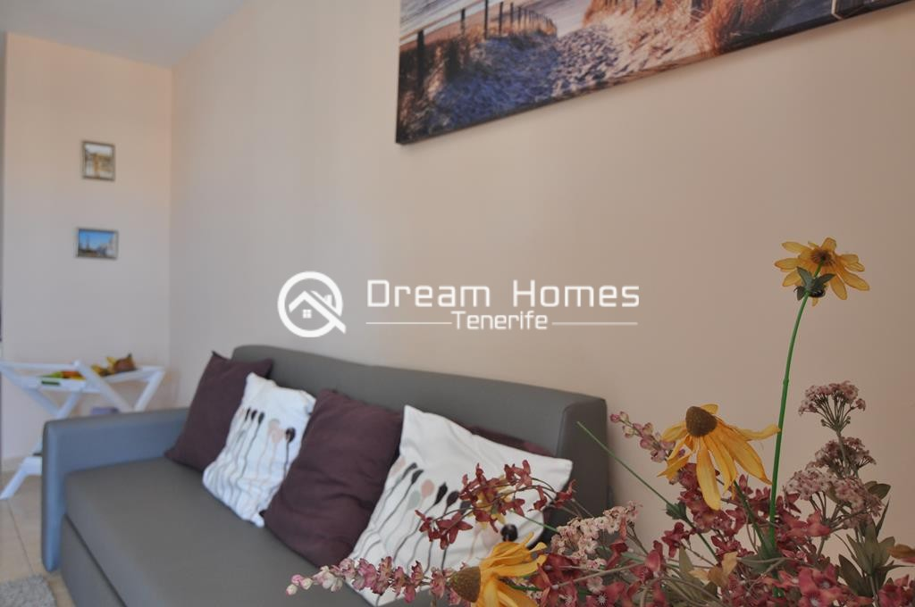 Modern One Bedroom Apartment with Pool Living Area Real Estate Dream Homes Tenerife
