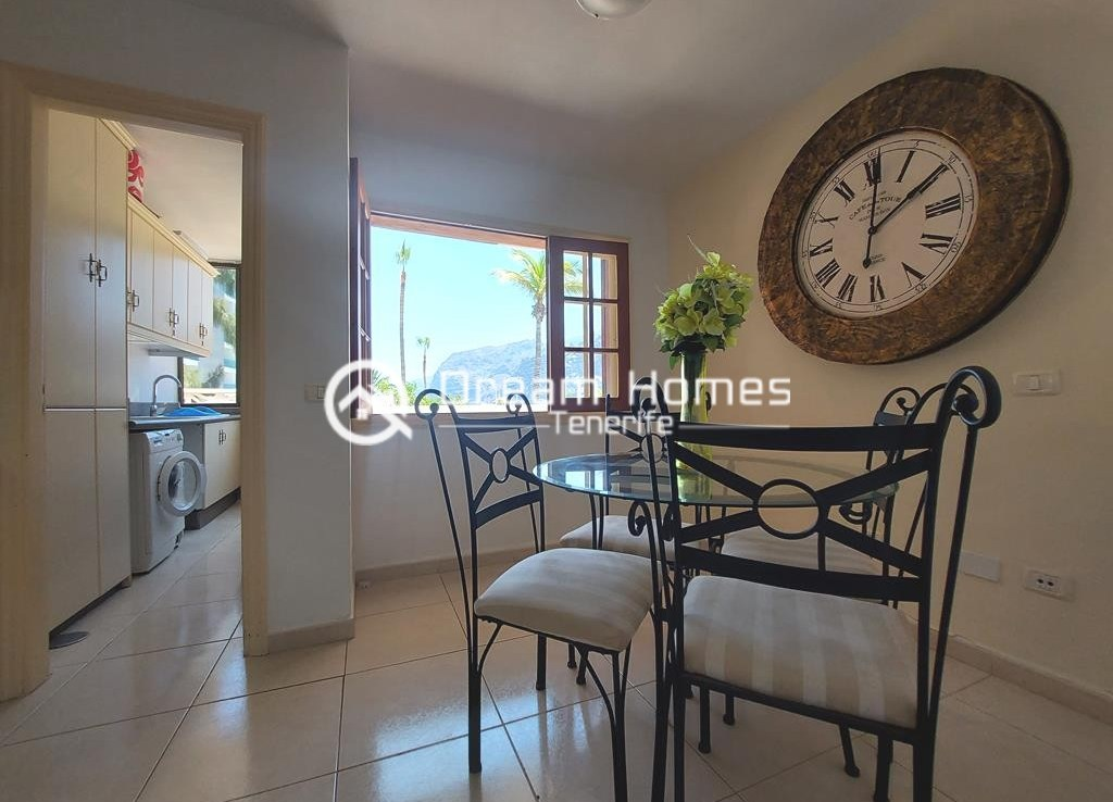 Spectacular Three Bedroom Townhouse with Oceanview and Pool Dining Area Real Estate Dream Homes Tenerife