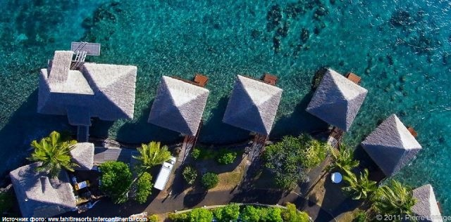 Бунгало на воде, отель InterContinental Tahiti Resort