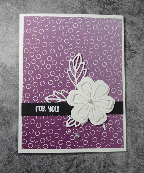 Pretty Perennials Blackberry Bliss Ombre Card