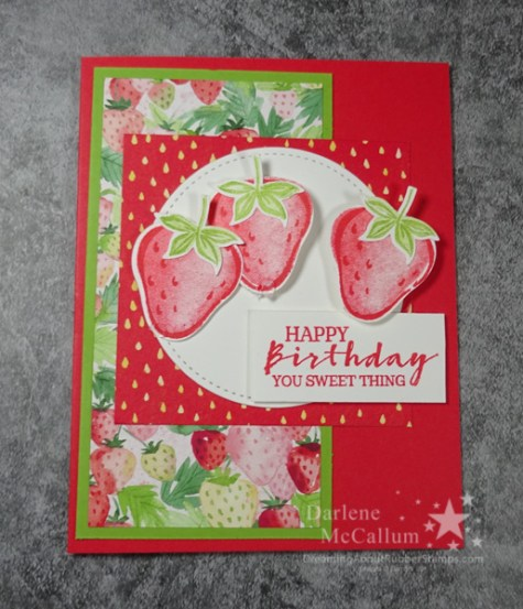 Sweet Strawberry Birthday Card