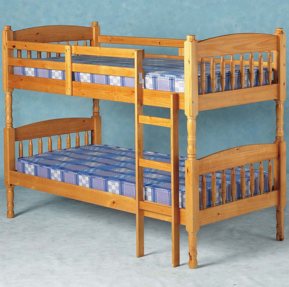 Albany Solid Pine Bunk Bed Splits Into 2 Single Bedframes