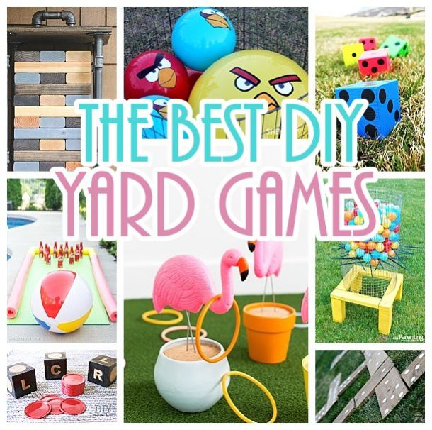 Do It Yourself Outdoor Party Games {The BEST Backyard