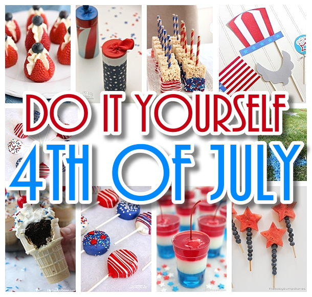 Do it Yourself 4th of July Red White and Blue Party - The BEST Recipes - Games - Decorations and fun ideas for your DIY Independence Day Party Your Guests will LOVE
