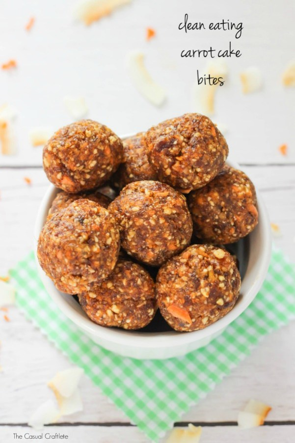 Healthy Snacks - Clean Eating Carrot Cake Energy Bites Recipe via The Casual Craftlete