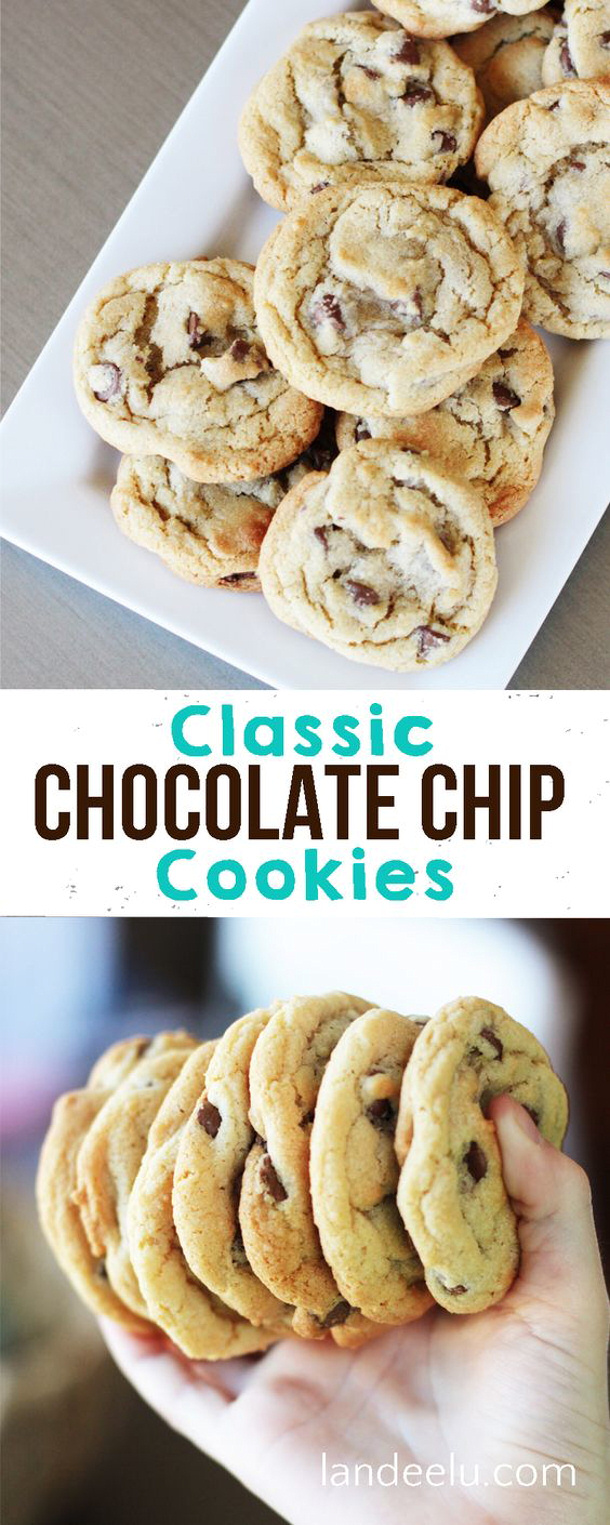 The BEST Classic Chocolate Chip Cookies Recipe via Landeelu