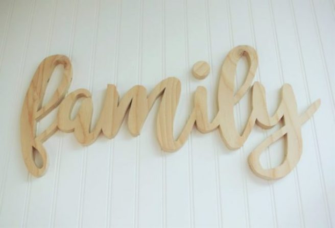 DIY Family Word Art Free Template Scroll Saw Woodworking Pattern project