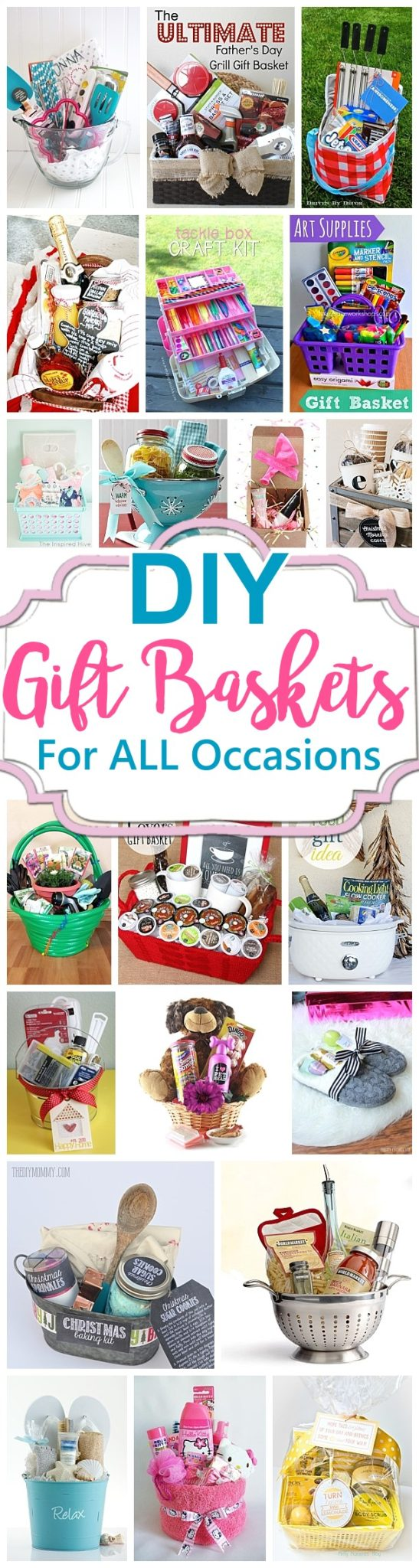 Do it Yourself Gift Baskets Ideas for Any and All Occasions - Perfect for Christmas - Birthdays - Thank You Gifts - Housewarmings - Baby Showers or anytime