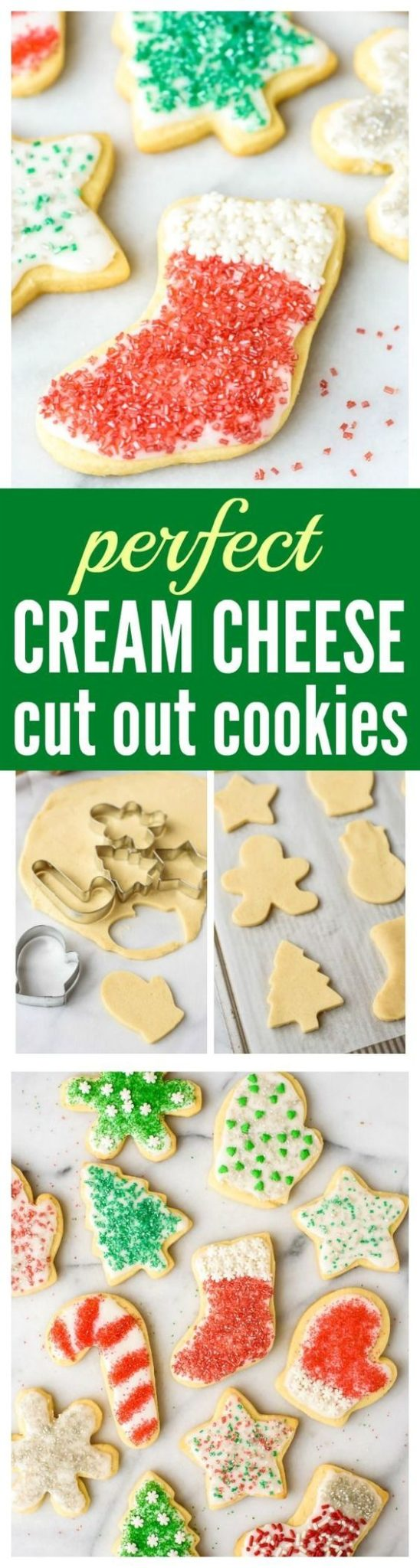 Perfect Cream Cheese Sugar Cookies RECIPE via Well Plated - The BEST Cut Out Sugar Cookies from scratch, with step-by-step photos. Cream cheese is the secret ingredient that makes the sugar cookies super soft, even days after they are baked. This is the only cut out Christmas cookie recipe you will ever need!