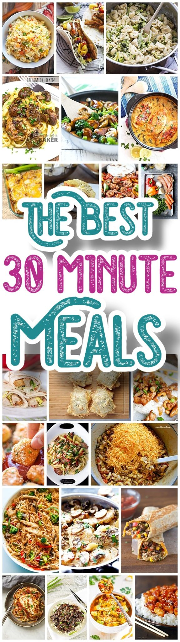 The BEST 30 Minute Meals Recipes - Easy, Quick and Delicious Family Friendly Lunch and Dinner Menu Ideas - Dreaming in DIY