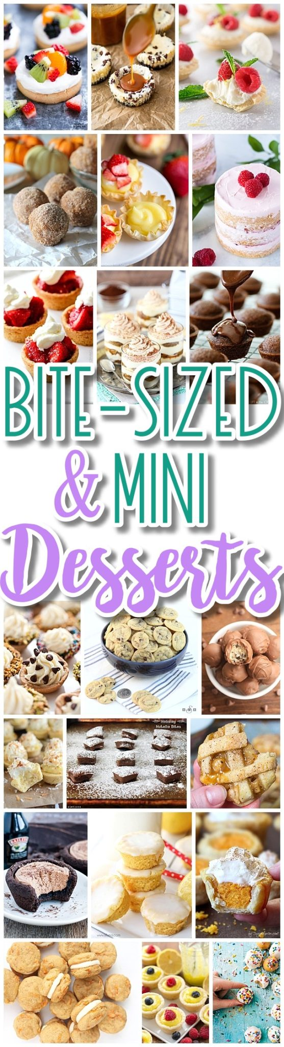 The BEST Bite Size Dessert Recipes - Mini, Individual, Yummy Treats, Perfectly Pretty for Your Baby and Bridal Showers, Birthday Party Dessert Tables - Holiday Celebrations! Dreaming in DIY