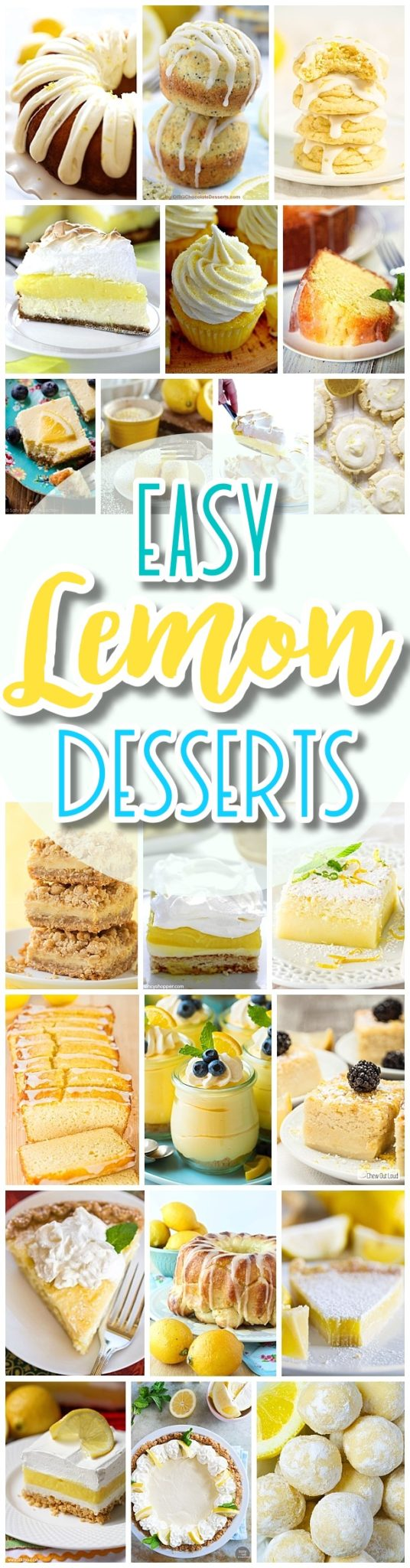 The BEST Easy Lemon Desserts and Treats Recipes - Perfect For Easter, Mother's Day Brunch, Bridal or Baby Showers and Pretty Spring and Summer Holiday Party Refreshments - Dreaming in DIY