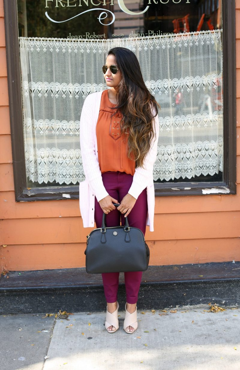 fall-colors-outfit-ideas-purple-rust-blush