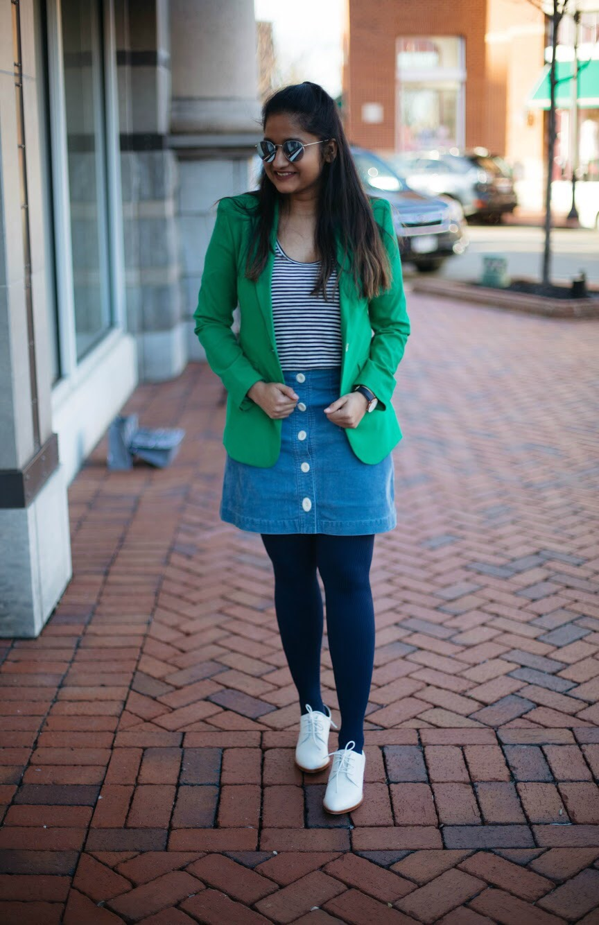 how-to-wear-green-blazer