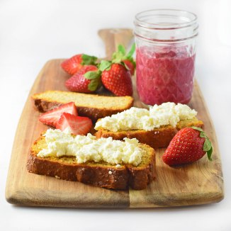 raspberry chia jam with ricotta on toast