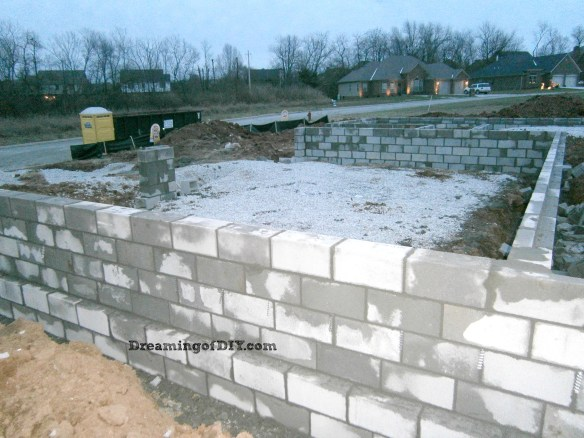 foundation, 3 car garage