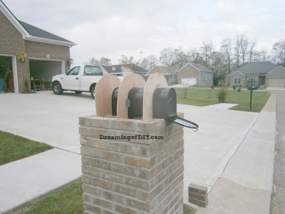 DIY BrickMailbox