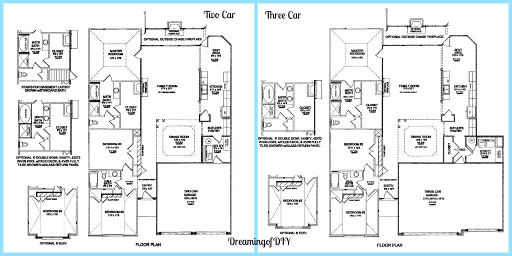 2 and 3 car plans