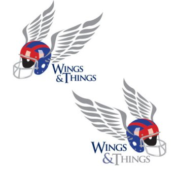 Logo created for Wings & Things, a football and coaching workshop