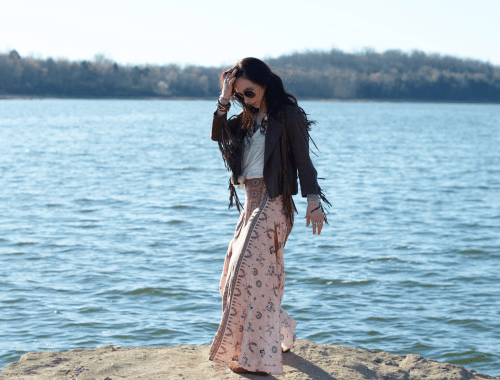 dreaming trees summer bohemian maxi skirt look