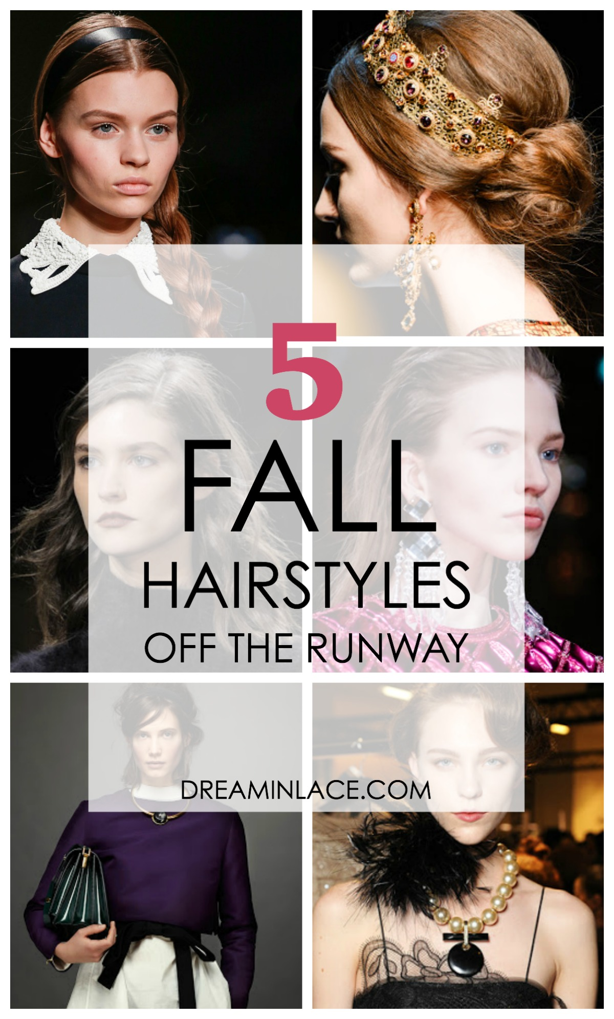 Straight Off the Runway: 5 fall hairstyles #hairstyles #runway
