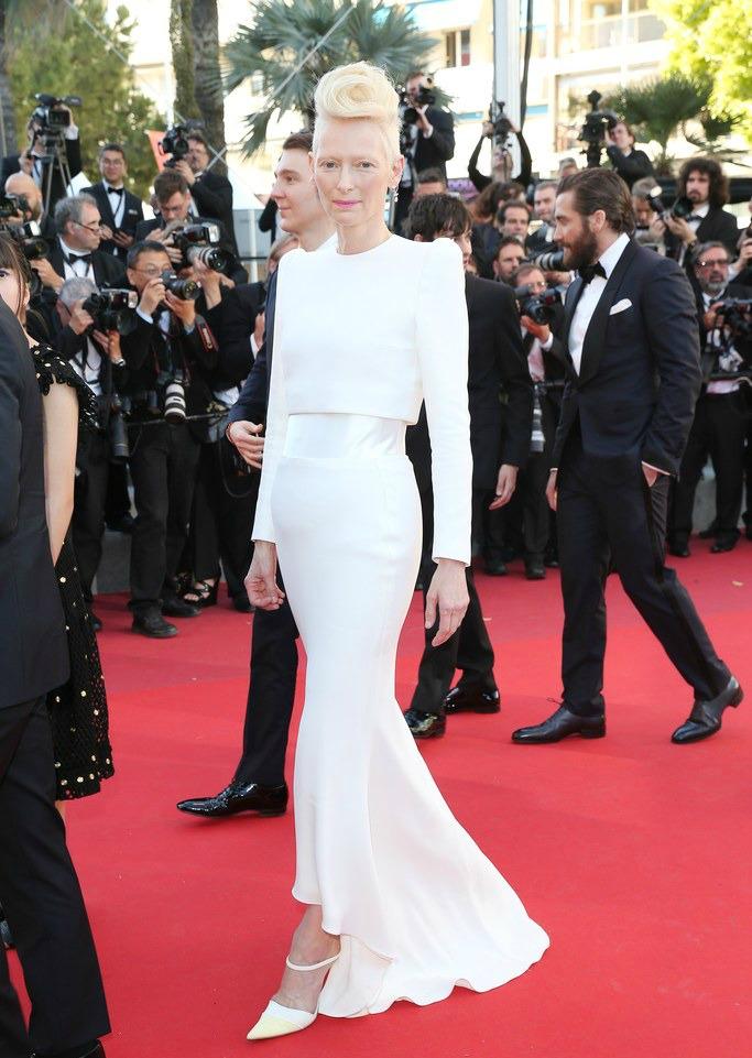 20 Best Cannes 2017 Red Carpet Looks - Tilda Swinton in Haider Ackermann