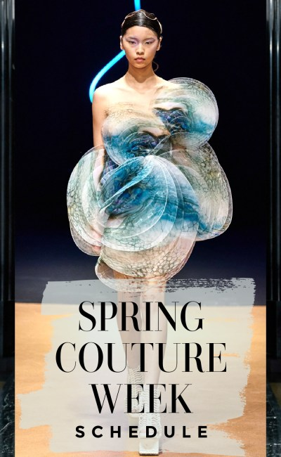 Get Your Official Spring 2021 Couture Week Schedule