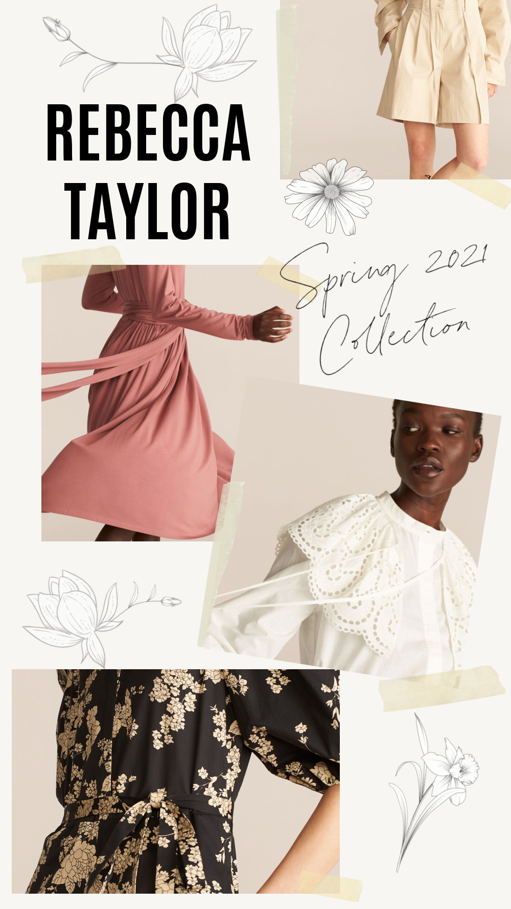 Rebecca Taylor Spring 2021 Collection by Steven Cateron I DreaminLace.com #springstyle #outfitideas #fashionblog