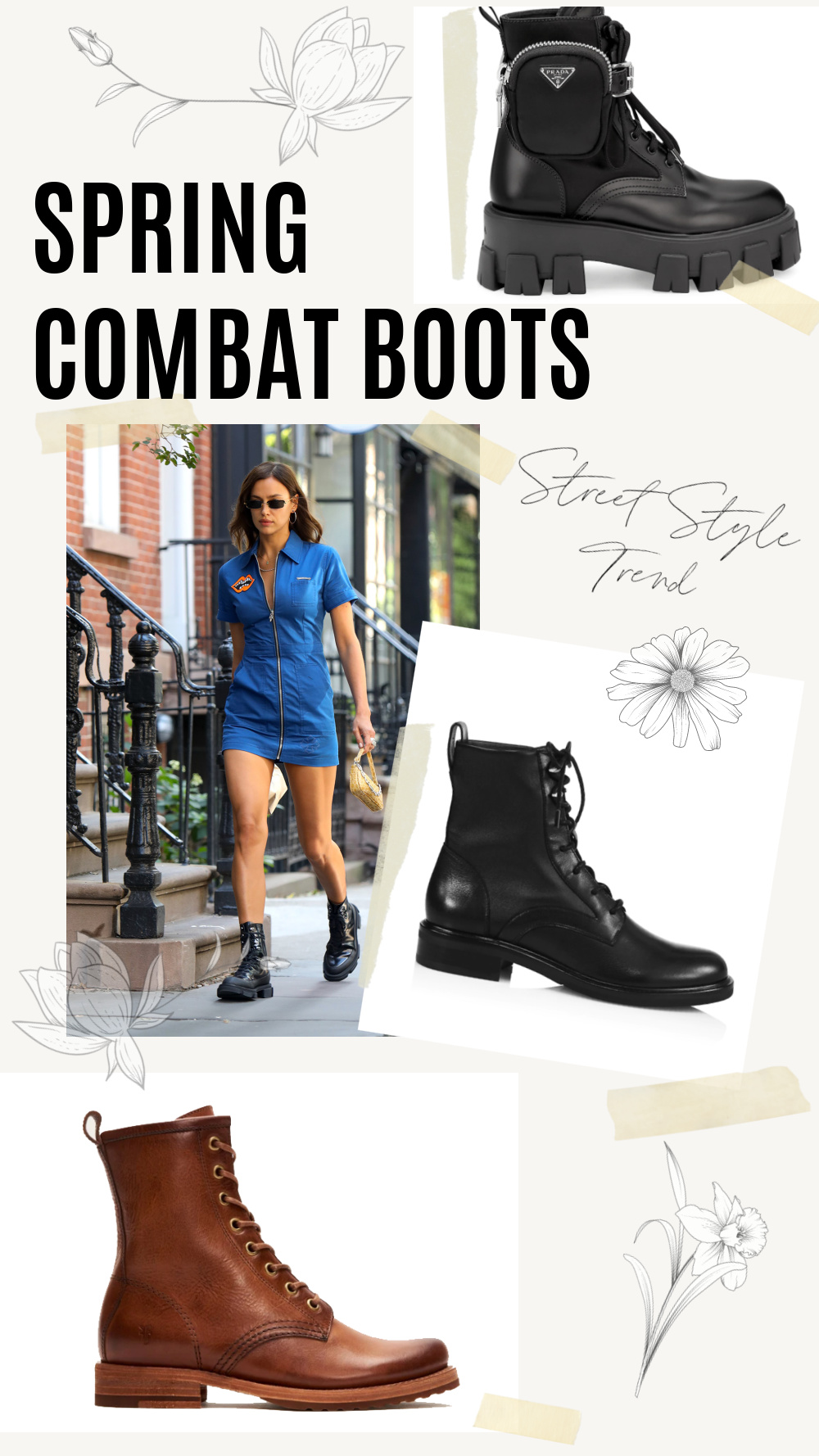 Spring Combat Boots for 2021 I DreaminLace.com #springstyle #prada #fashionstyle #streetstyle
