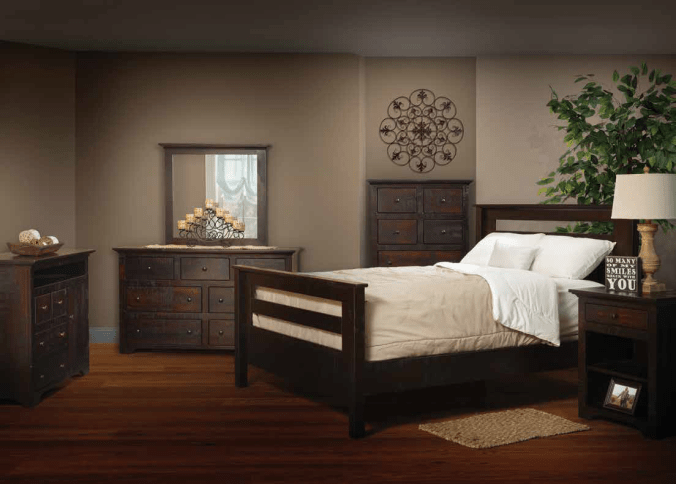 Rail Bed Solid Wood Bedroom Suite Dreamland Mattress Furniture Store Lebanon PA