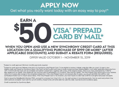 Synchrony Credit Card Rebate