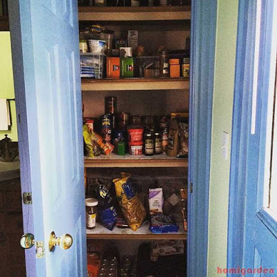Pantry is clean, organized