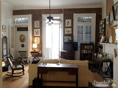 French Windows on Living Room