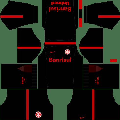kit Internacional dls17 uniforme alternativo Treino