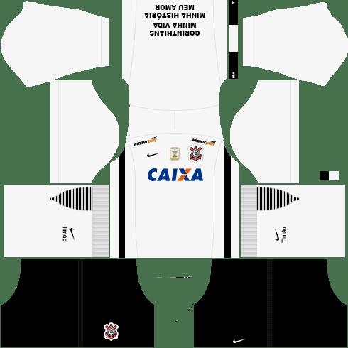 Kit Corinthians dls17 uniforme casa