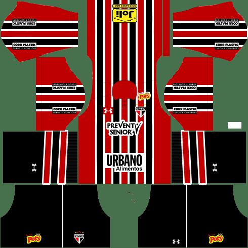 kit são paulo dls17 uniforme fora de casa 16-17