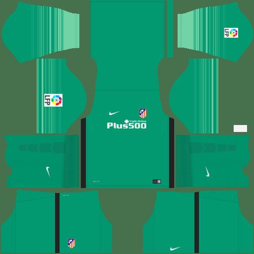 kit Atletico Madrid dls17 uniforme goleiro fora de casa