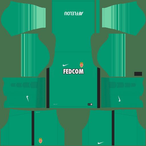kit Monaco DLS 20 uniforme goleiro casa