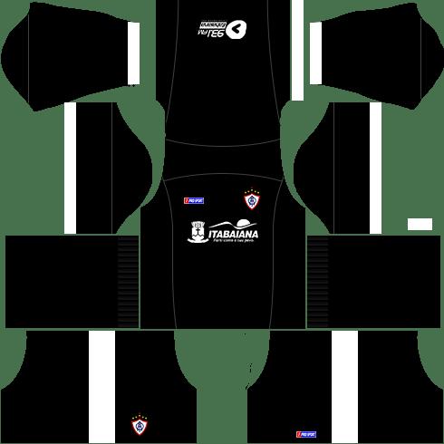 kit itabaiana dls17 uniforme goleiro fora de casa