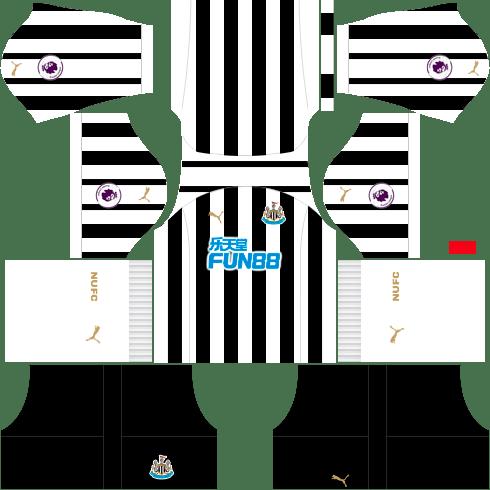 Kit Newcastle dls home - uniforme casa 18-19